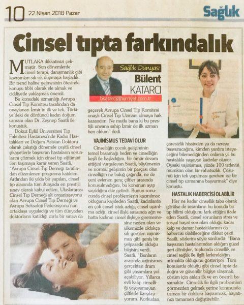 Cinsel Tıp Gazete Röportajı Zeynep Saatlı
