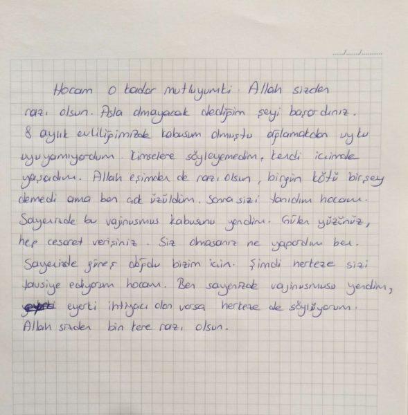 Vajinismus Mektubu 1